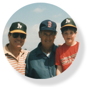 Ted Williams with Mike and Jake Epstein at spring training